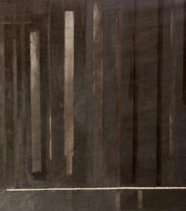nicht eitel sonnenschein 2016 teilansicht oel auf papier 120 x 600 cm