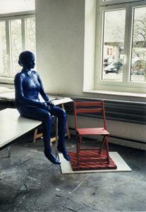 an ort und stelle, 2000, installation, gips/lackfarbe