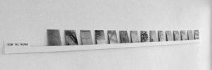 i segni dell' inverno, 2011, installation, fotografie/folex/spiegelglas, je 15 x 15 cm