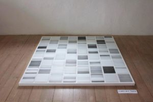 il diario della foschia 1-64 2011 tusche/folex/spiegelglas auf dibond