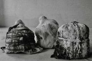 sackgeburten 1-29 teilansicht, 1994, installation