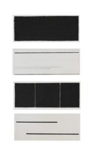 nachklang 4-teilig 2016 tusche auf bütten 38 x 66 cm