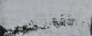 windgepeitscht 2018 malerei tusche auf papier 9 x 22,5 cm
