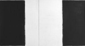 ohne titel 2-teilig 2000 oel auf leinwand 220 x 120 cm